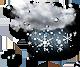 oblačno dež s snegom