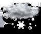 oblačno sneženje