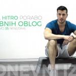 Vadba za hitro porabo maščobnih oblog (v samo 35 minutah)