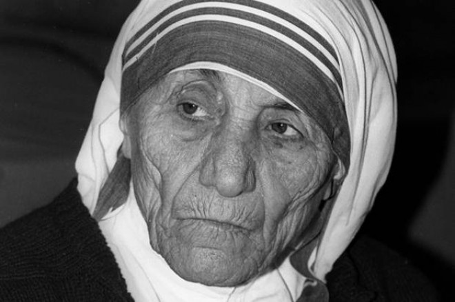 Mother Teresa at a press conference in Lima, Peru concerning the violence of the world