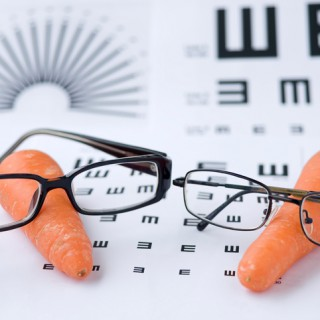 Glasses, Carrot and Eye Chart